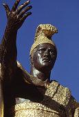 detail of King Kamehameha statue