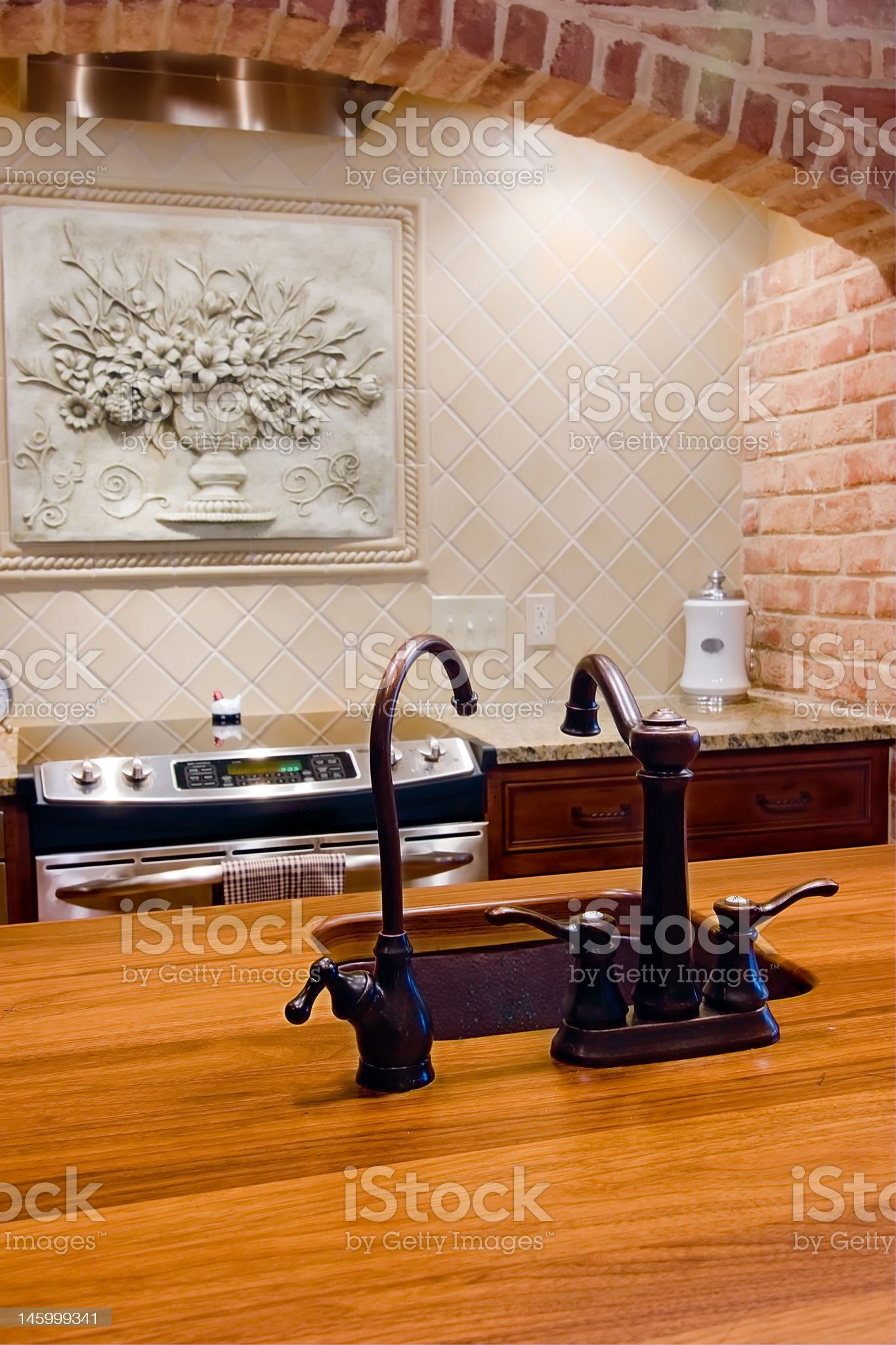 detail of kitchen with island royalty-free stock photo