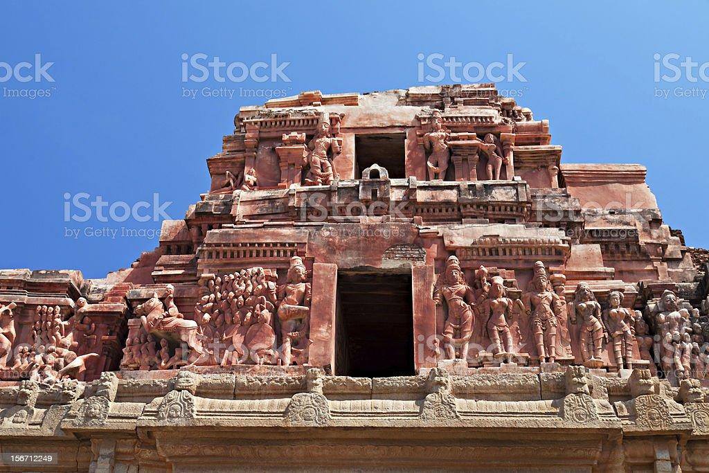 Detail of Krishna temple royalty-free stock photo