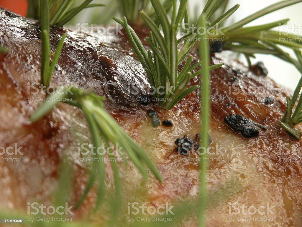 Detail of Lamb Roast royalty-free stock photo