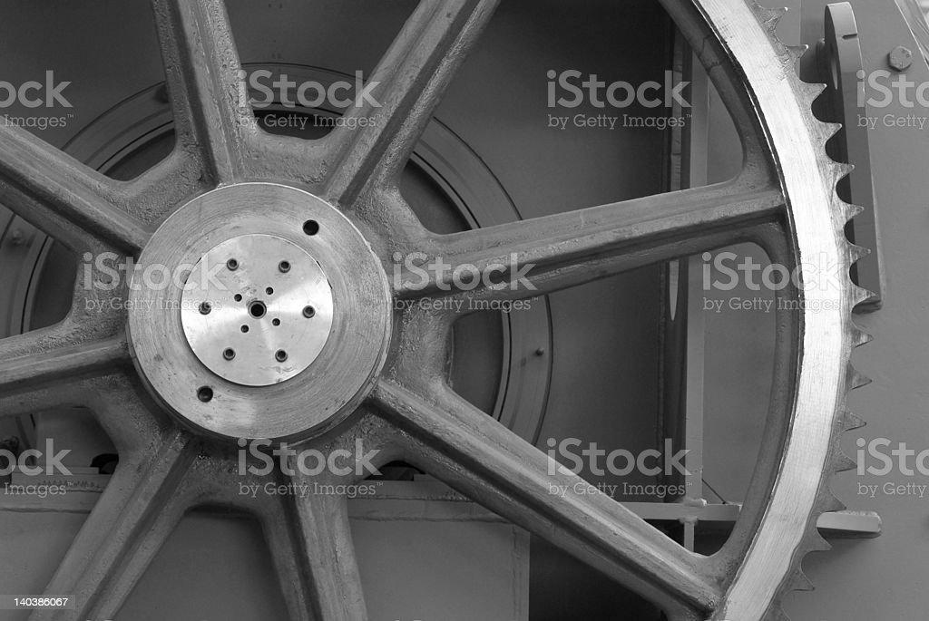 Detail of large cogwheel royalty-free stock photo