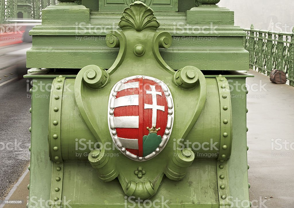 Detail of Liberty Bridge in Budapest. royalty-free stock photo