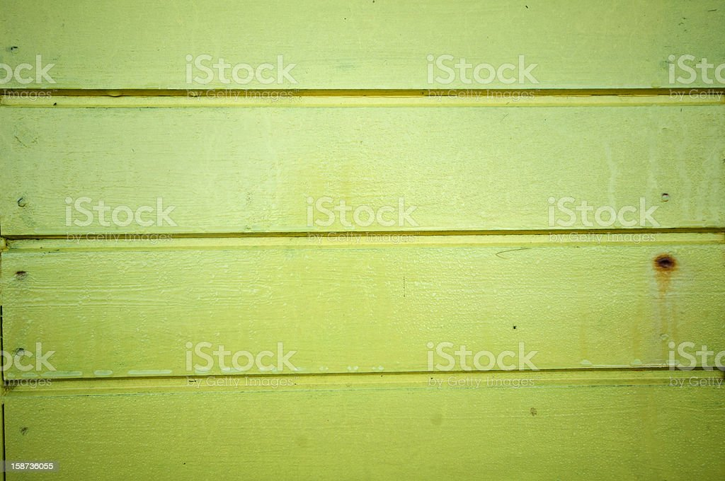 Detail of lime green wall from a beach hut. royalty-free stock photo