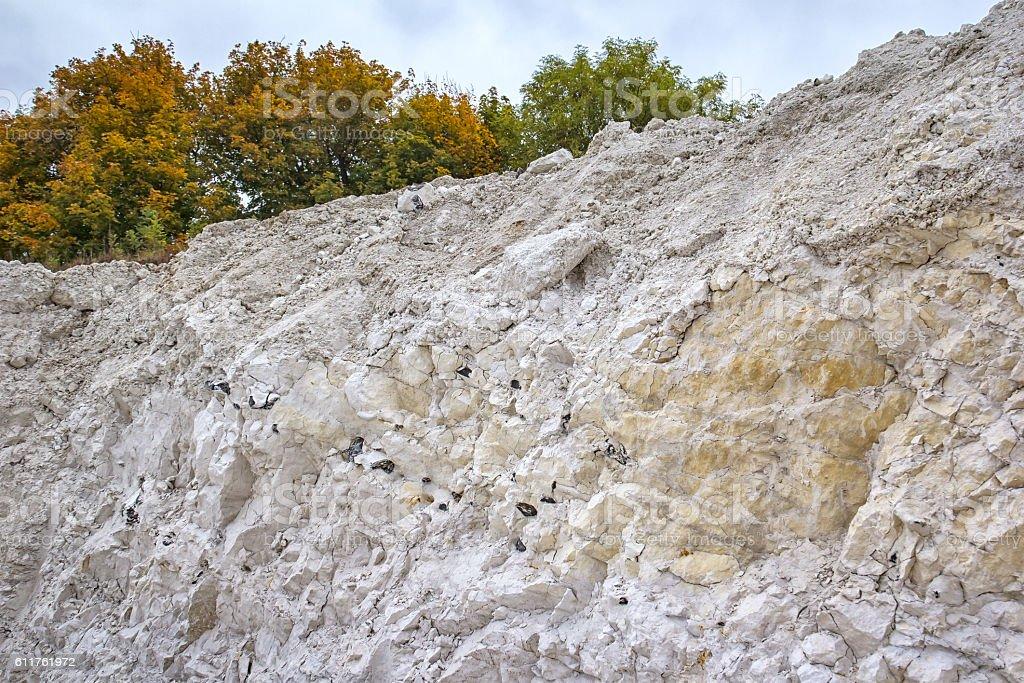 Detail of Limestone, Calcareous, Chalk stock photo