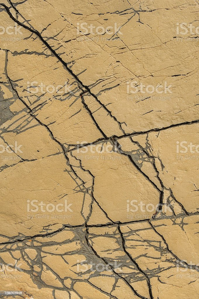 Detail of limestone surface, Vrboska, Croatia royalty-free stock photo