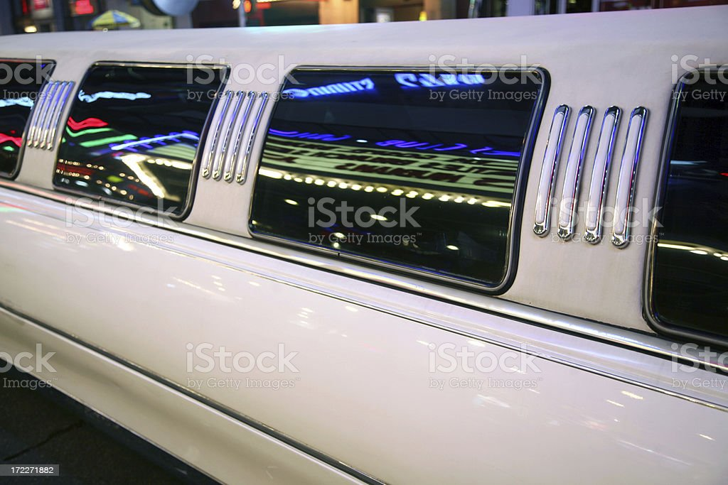 Detail Of Limousine With Neon Reflections royalty-free stock photo