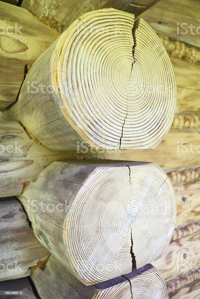 Detail of Log House royalty-free stock photo