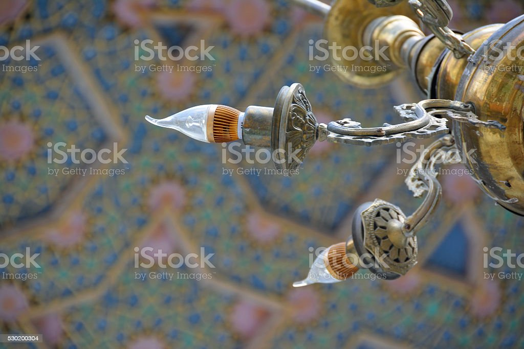 Detail of luster in the Uzbek mosque stock photo