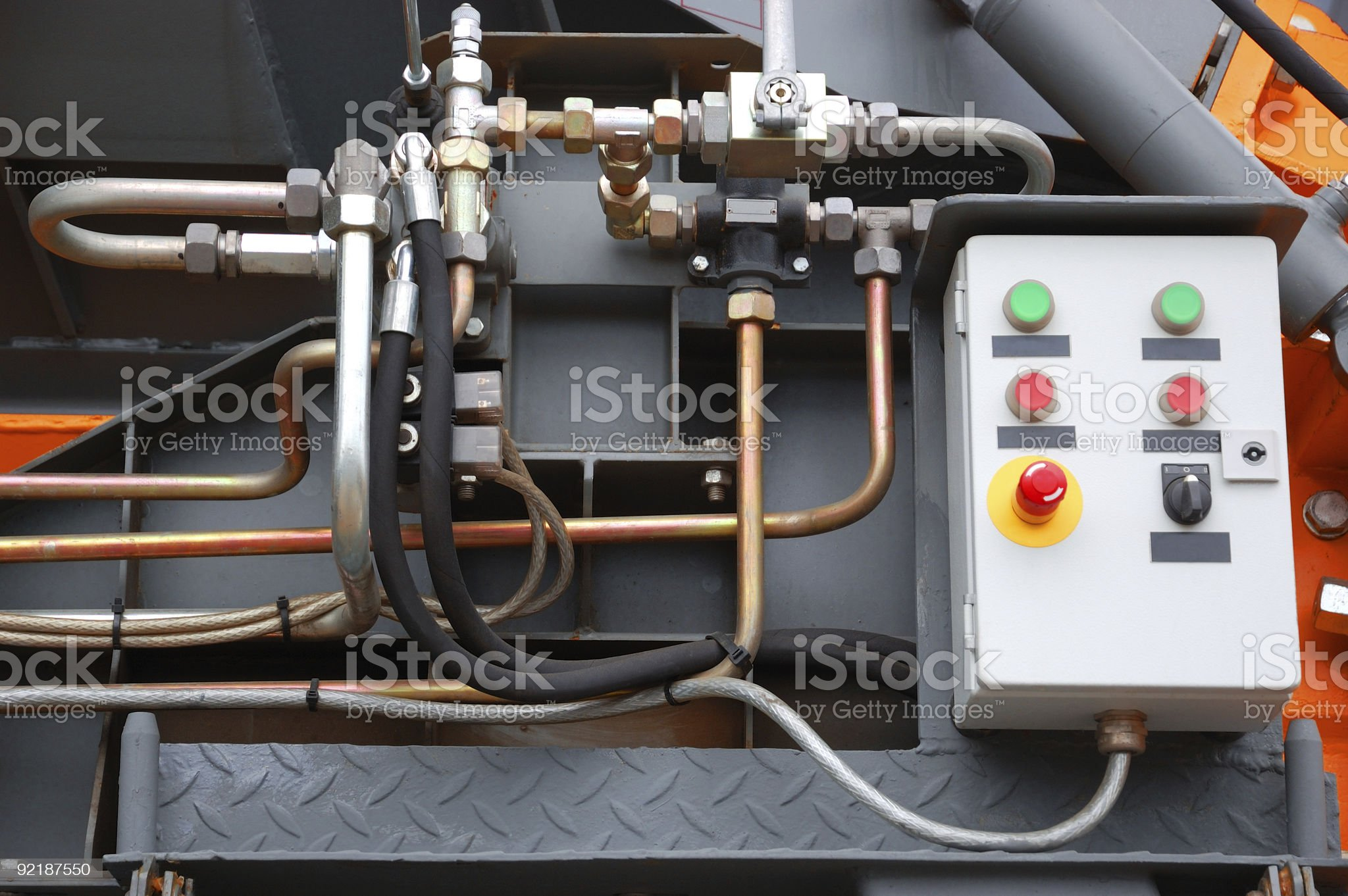 Detail of machinery royalty-free stock photo
