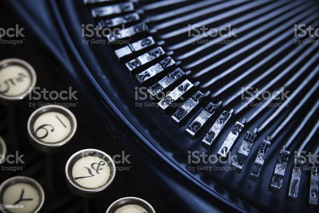 Detail of Manual Typewriter royalty-free stock photo