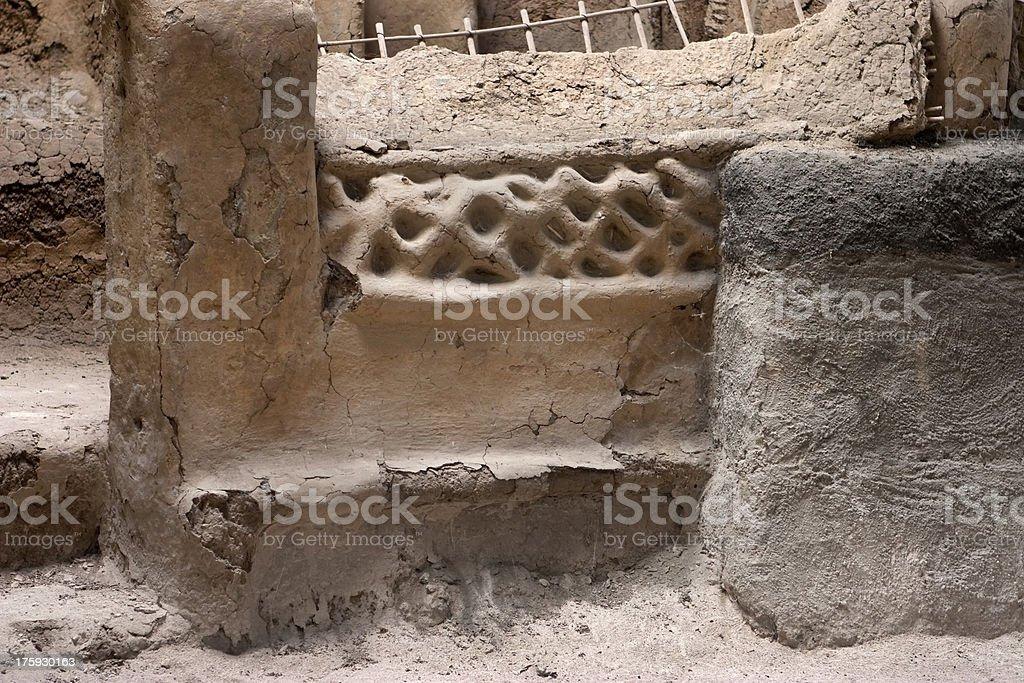 Detail of Maya home Joya de Ceren El Salvador royalty-free stock photo