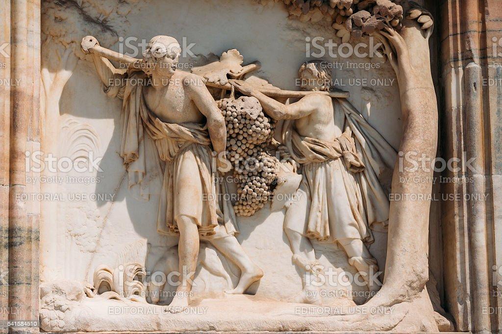 Detail of Milan Cathedral or Duomo di Milano, Milan, Italy. stock photo