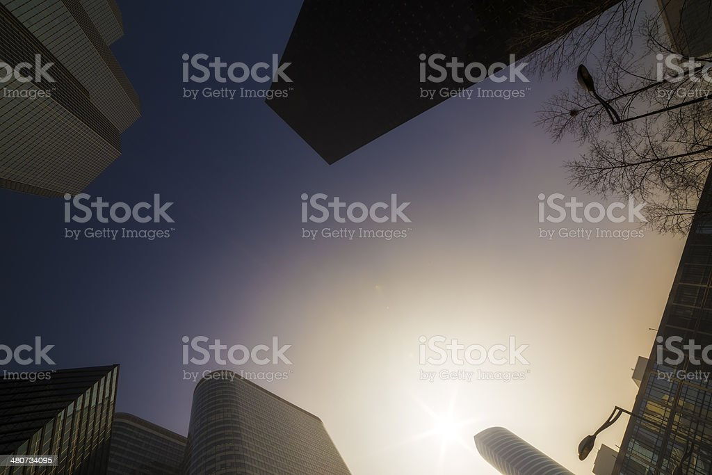 Detail of Modern Architecture. City Life stock photo