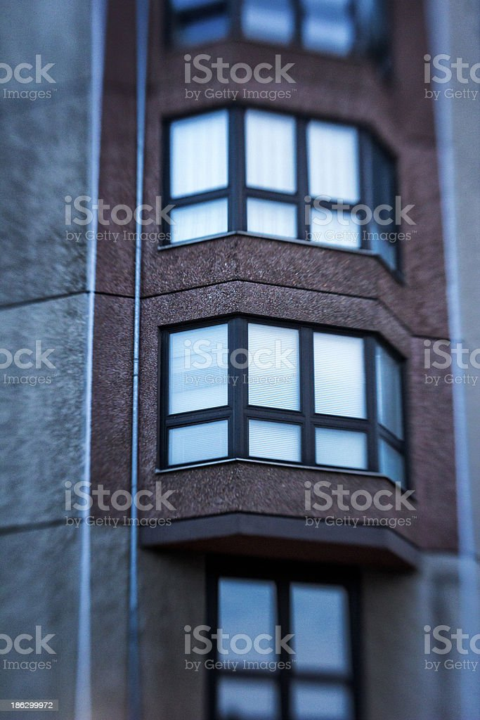 Detail of Modern Buildings stock photo