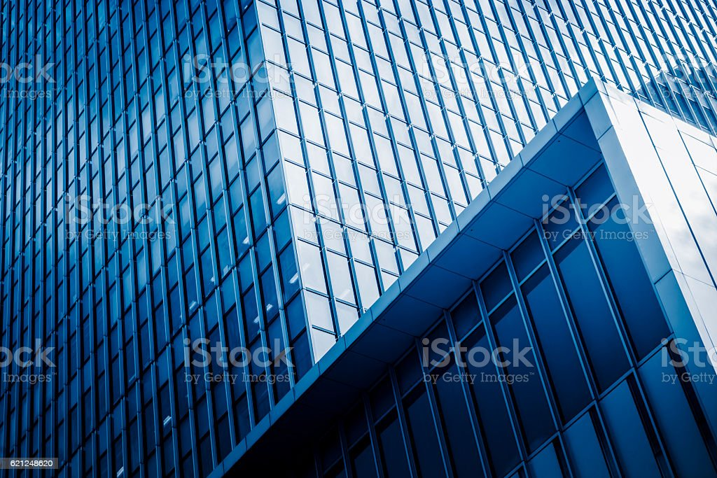 detail of modern glass steel architecture stock photo