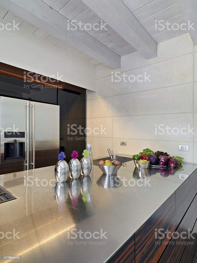 detail of modern kitchen royalty-free stock photo