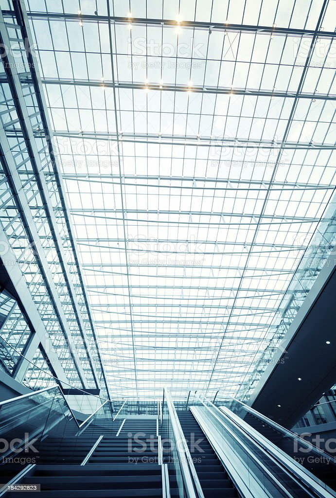 Detail of modern roof royalty-free stock photo
