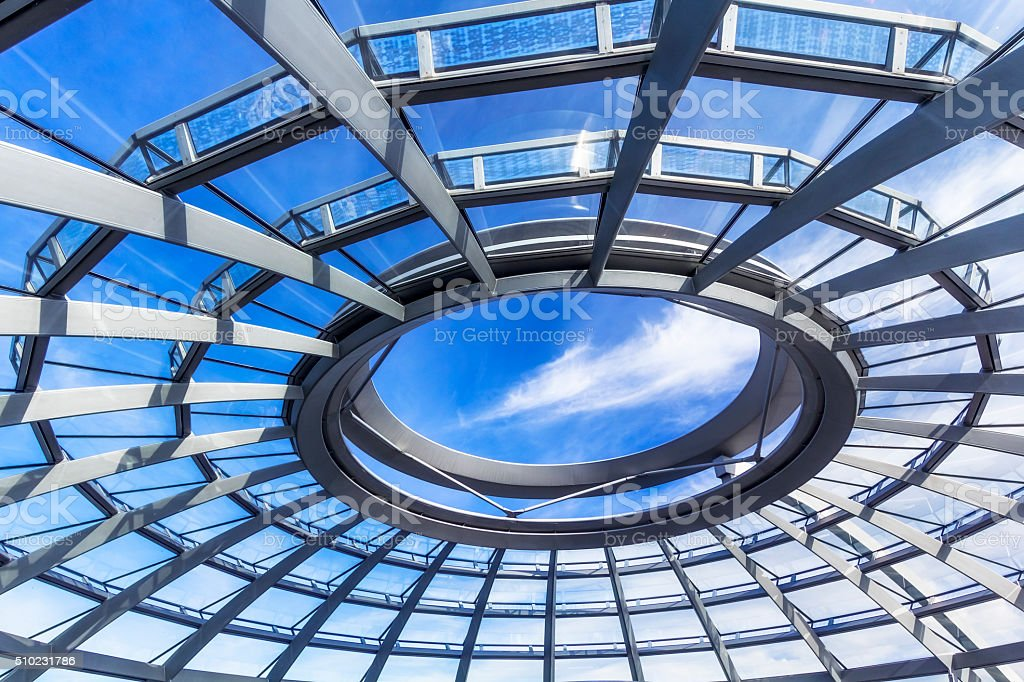 Detail of modern roof stock photo