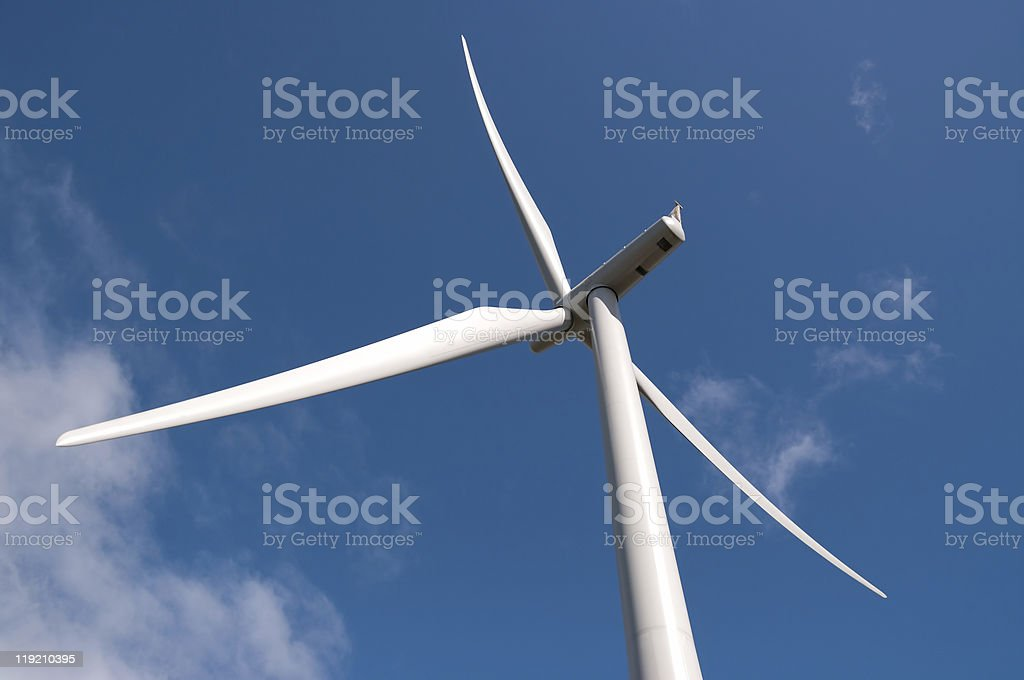 Detail of modern wind turbine royalty-free stock photo