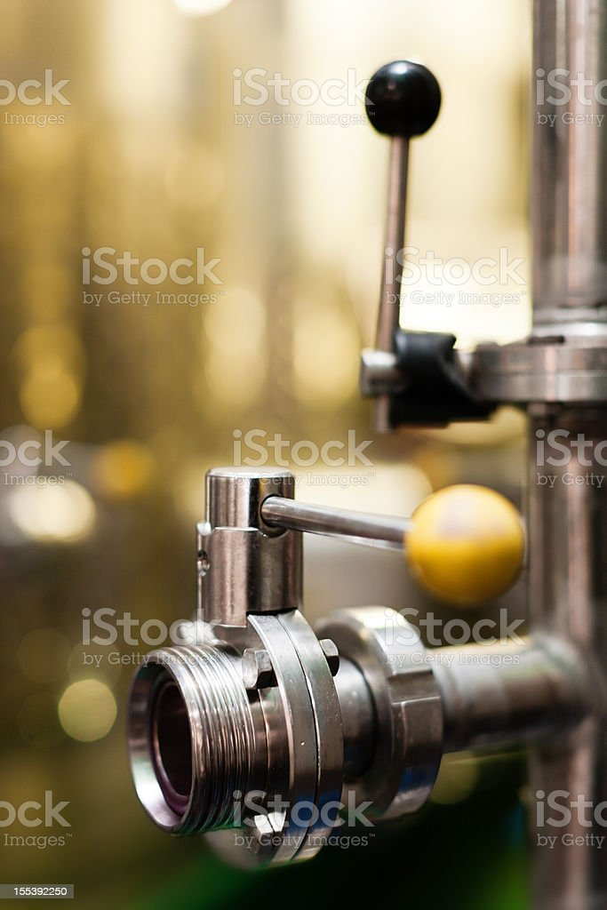 Detail of modern winemaking equipment royalty-free stock photo