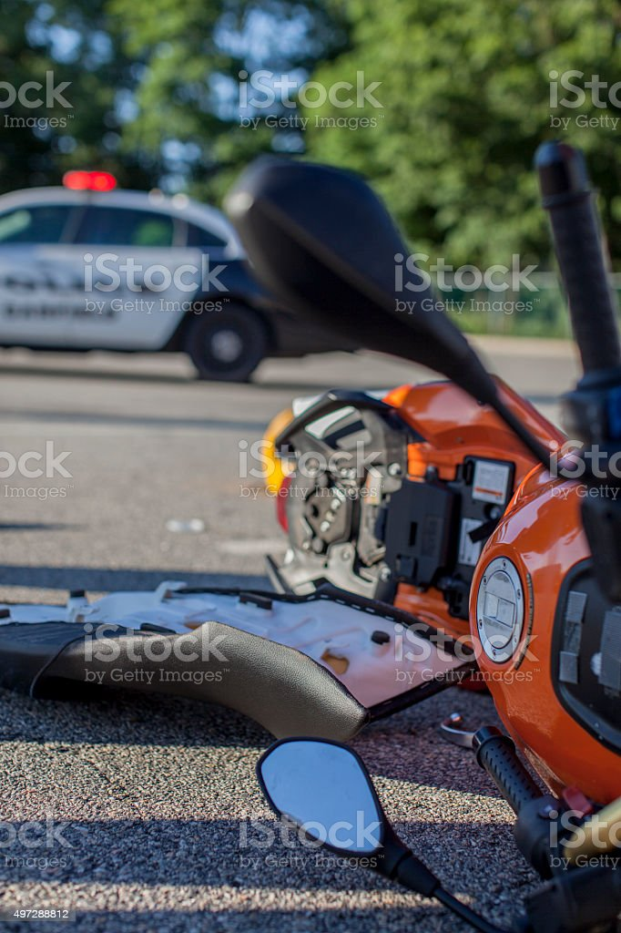 Detail of Morocycle Crash stock photo