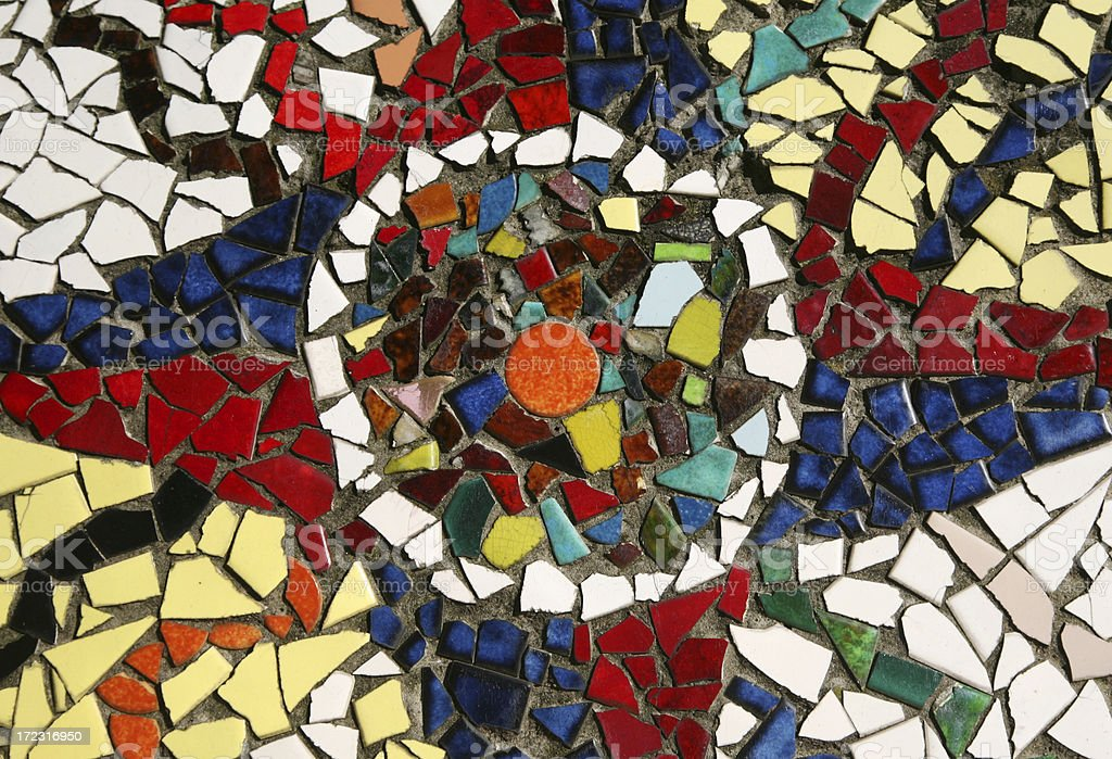 Detail of Mosaic Wall Tiles royalty-free stock photo