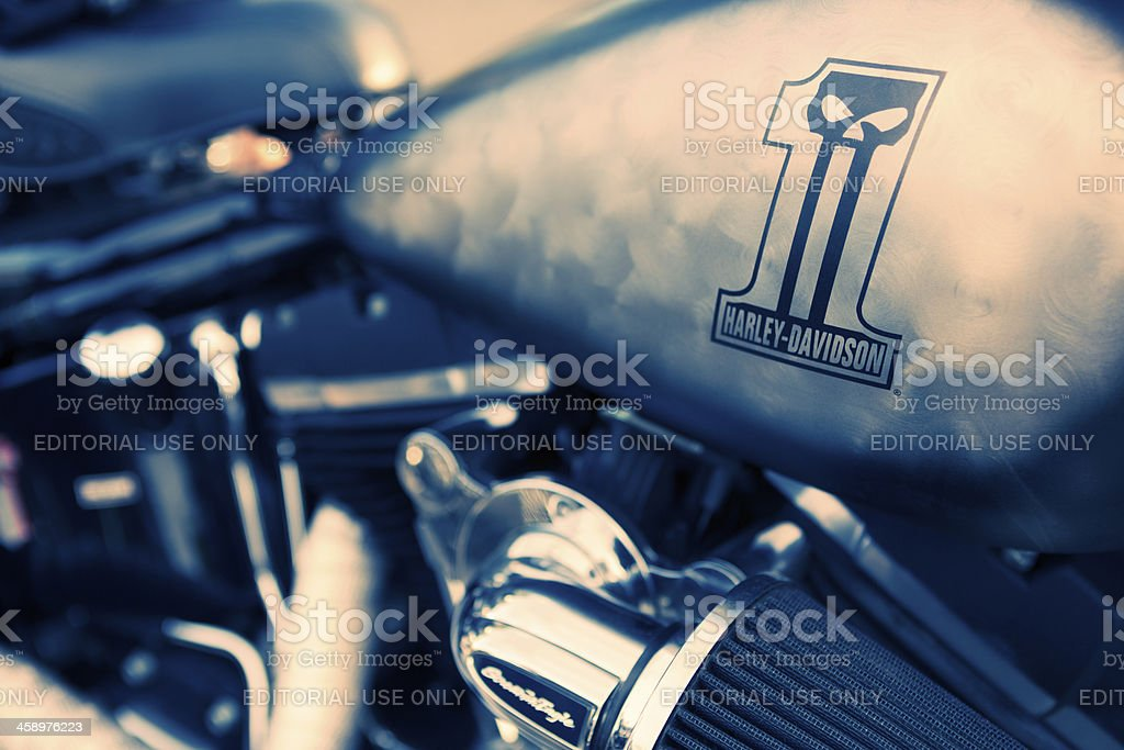Detail of Motorcycle royalty-free stock photo