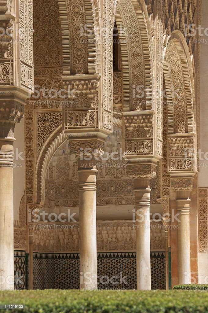 Detail of mudejar architecture royalty-free stock photo
