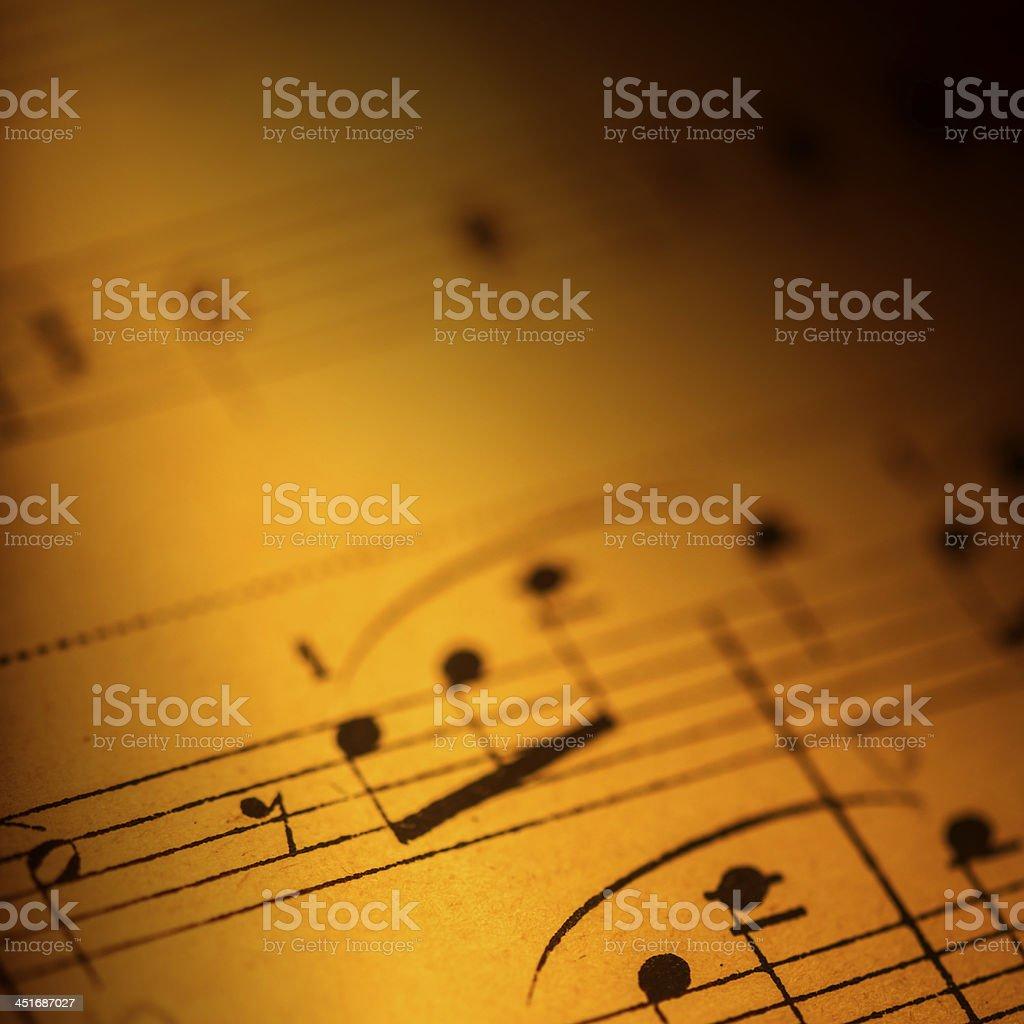 Detail of music sheet stock photo