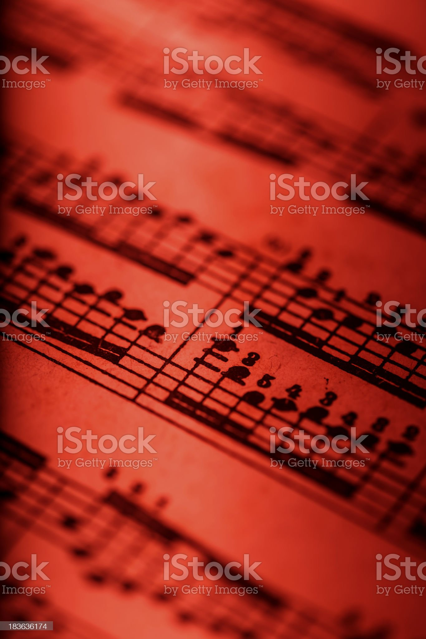 Detail of musical composition royalty-free stock photo