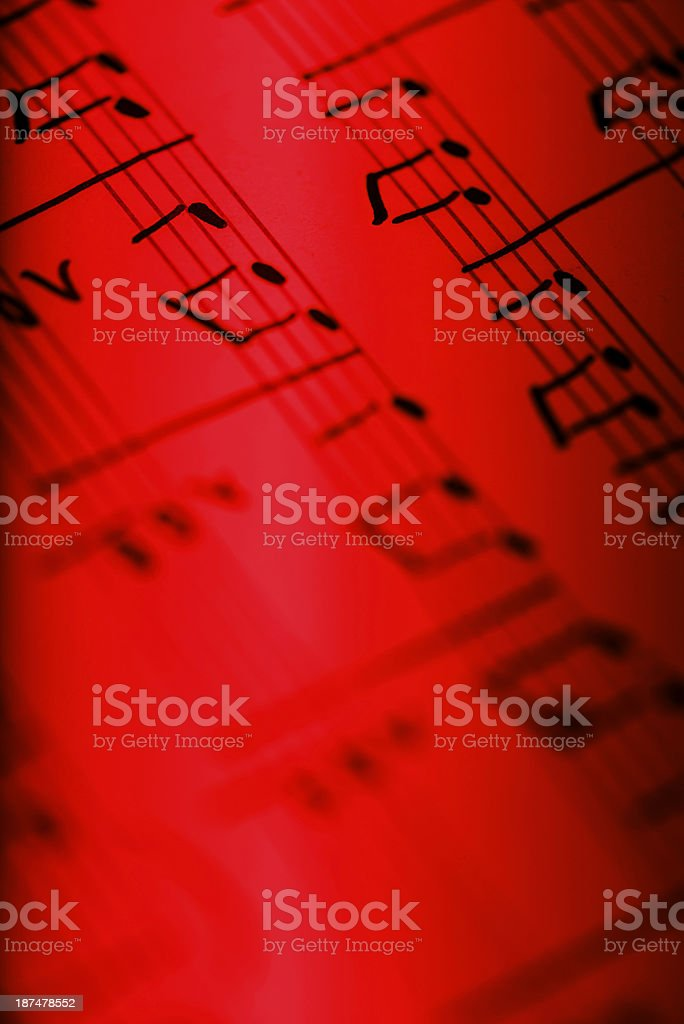 Detail of musical composition stock photo