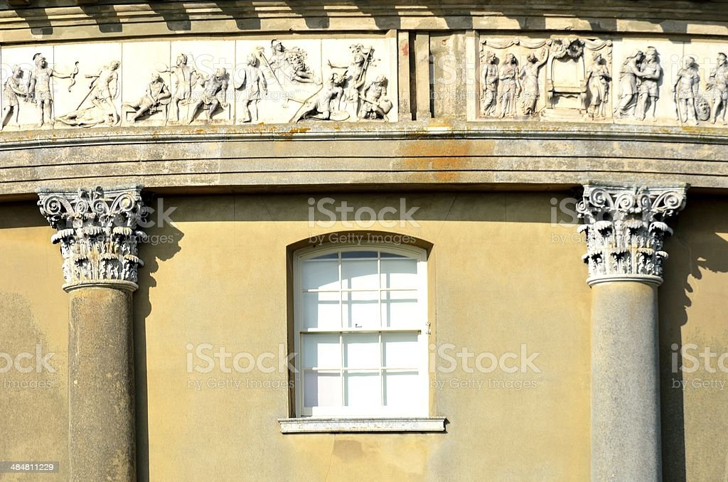 Detail of neo-classical building stock photo