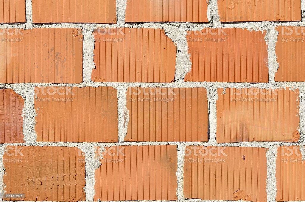 Szczegóły nowych Mur z cegły zbiór zdjęć royalty-free