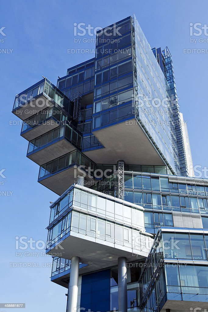 Detail of Nord LB building at Hannover royalty-free stock photo