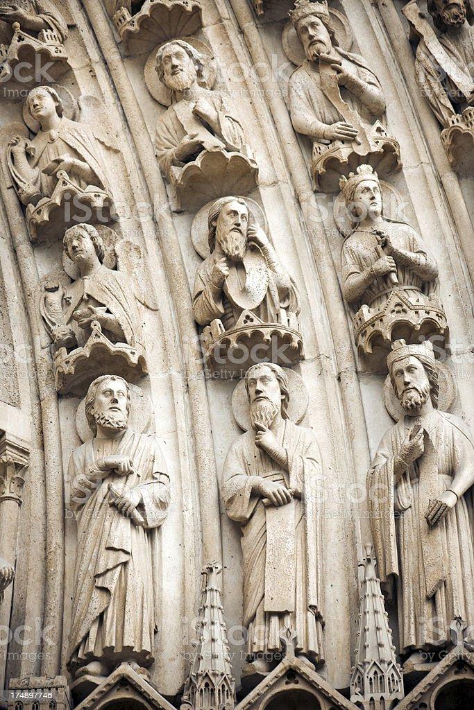 Detail of Notre Dame de Paris royalty-free stock photo