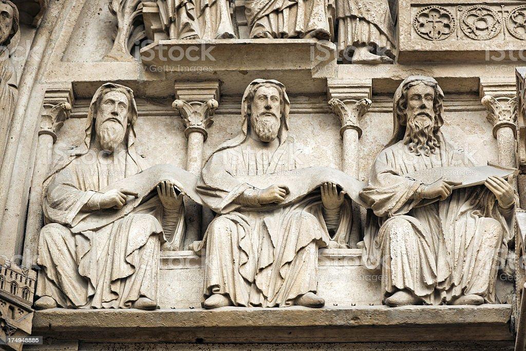 Detail of Notre Dame de Paris stock photo
