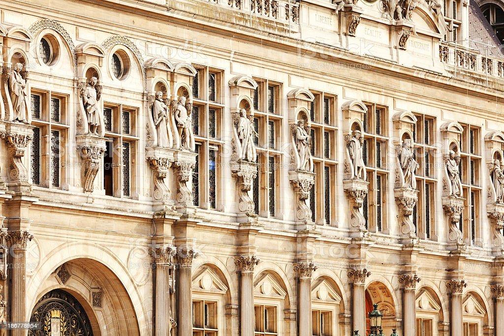 Detail of Notre Dame, Paris royalty-free stock photo