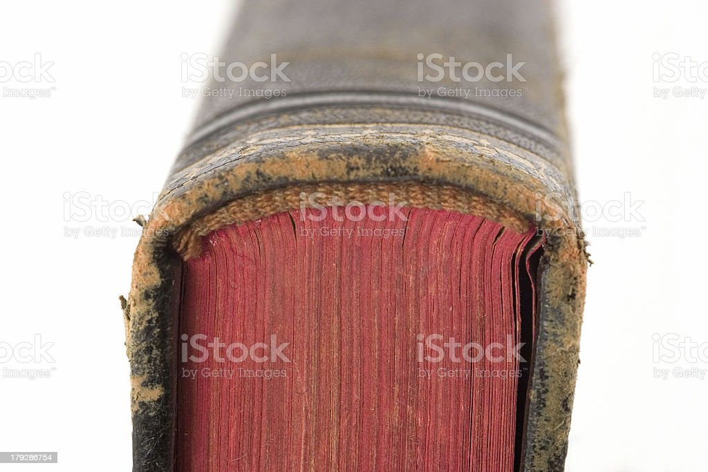 Detail of old book royalty-free stock photo