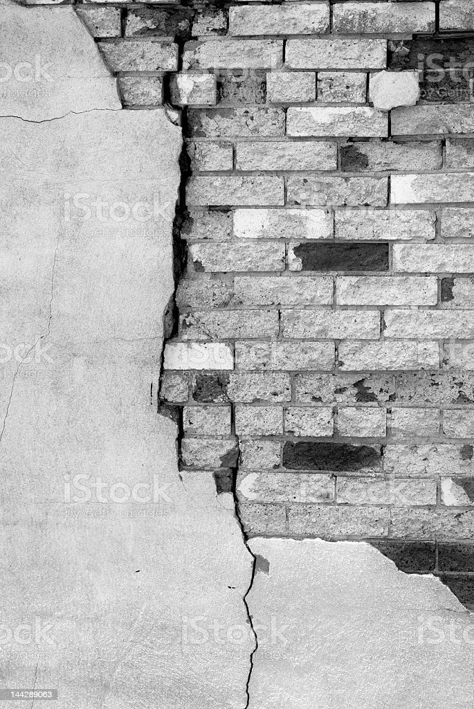 Detail of Old Brick Wall royalty-free stock photo