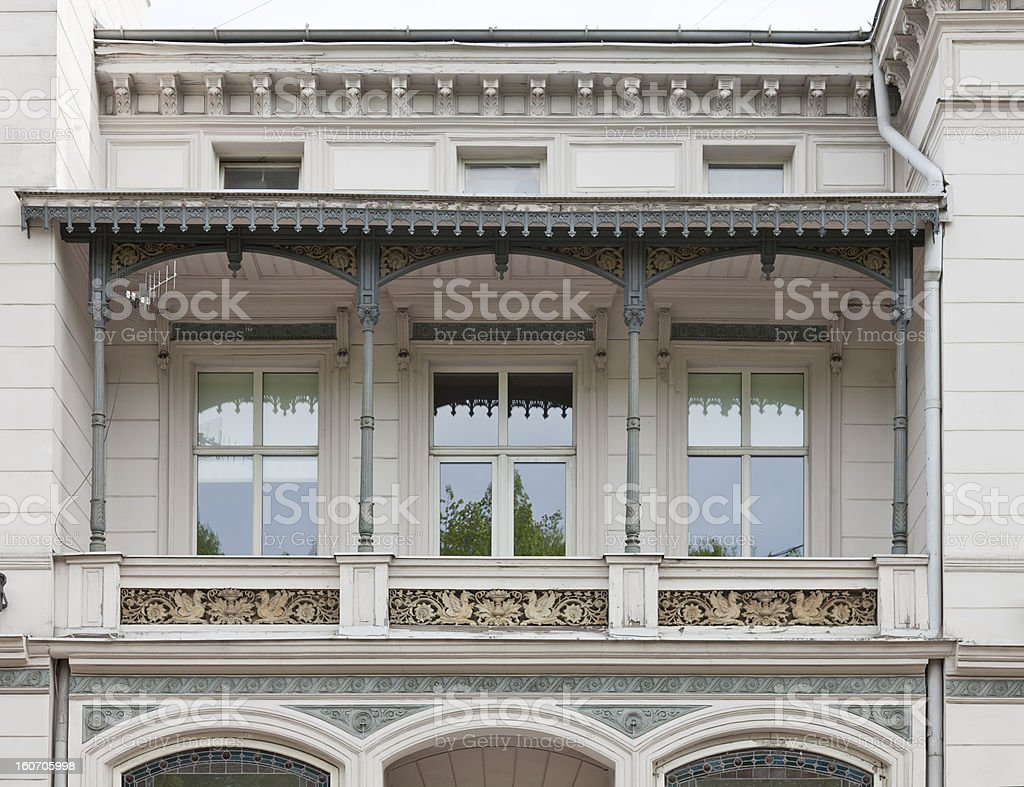 Detail of old building stock photo