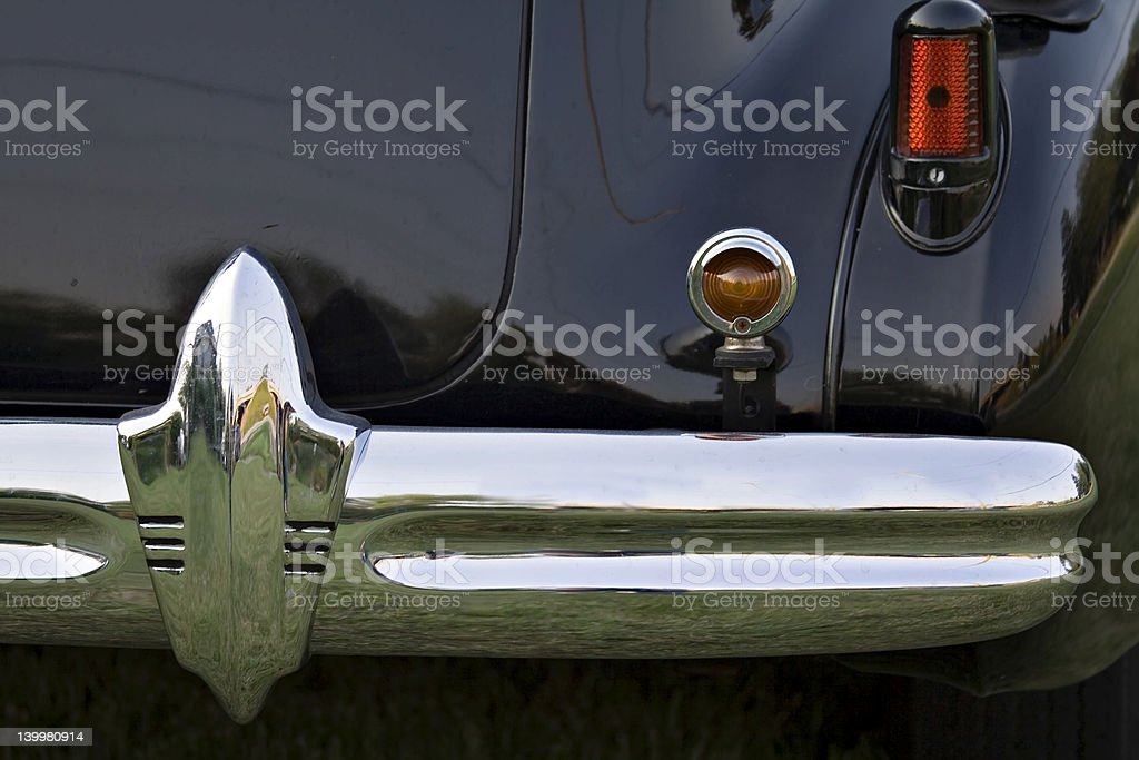 Detail of Old Car royalty-free stock photo