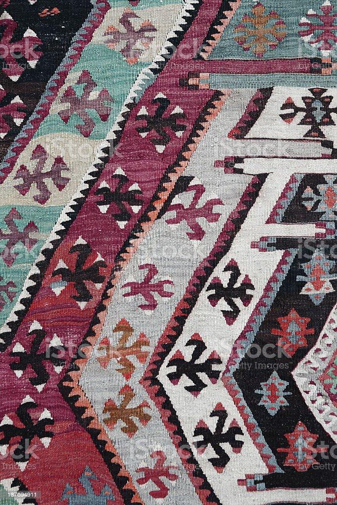 Detail of old carpet... royalty-free stock photo