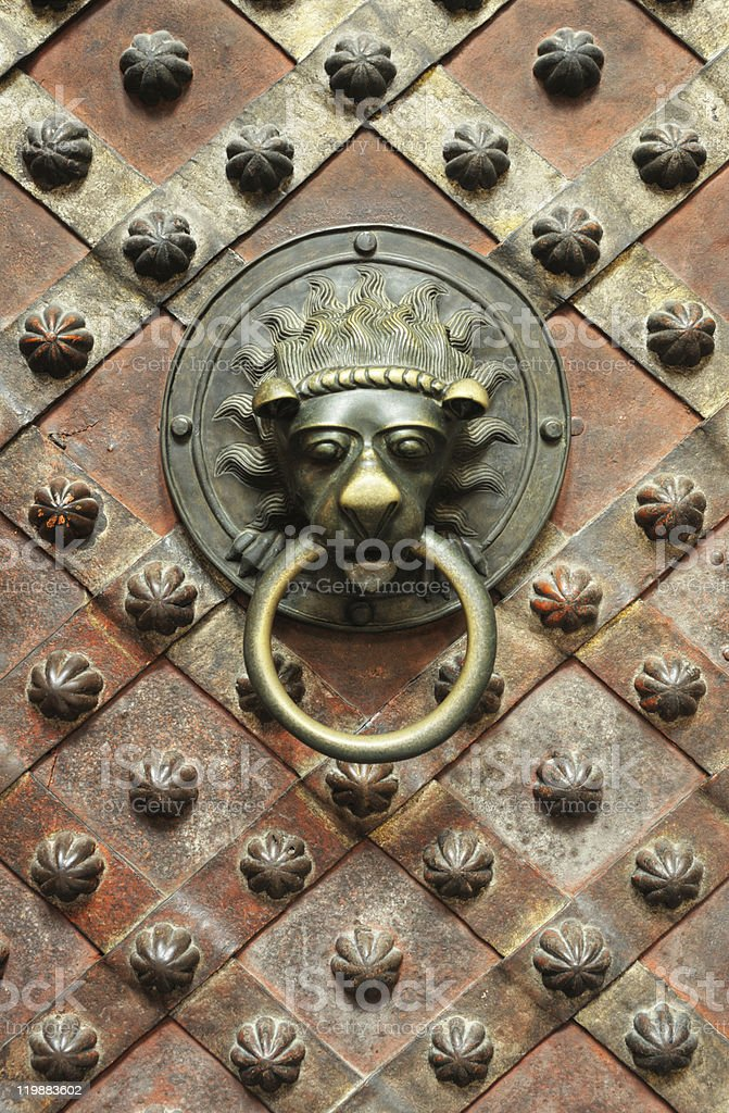 Detail of old door royalty-free stock photo