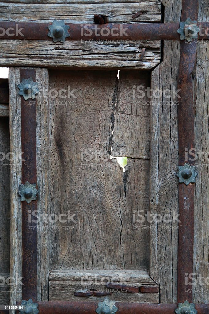 Detail of old door stock photo