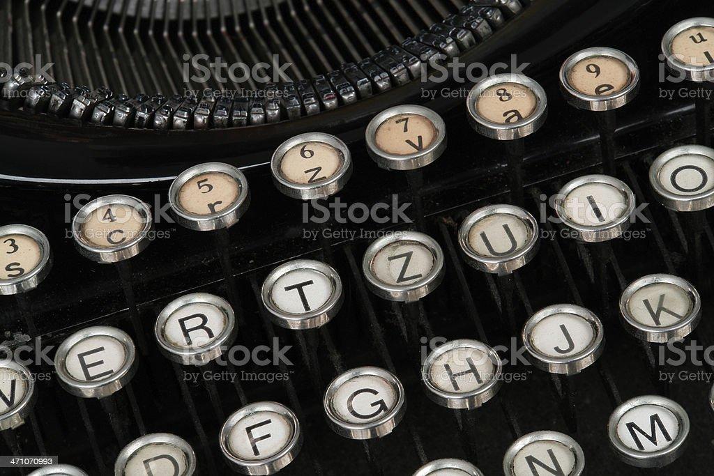 Detail of Old Typewriter royalty-free stock photo