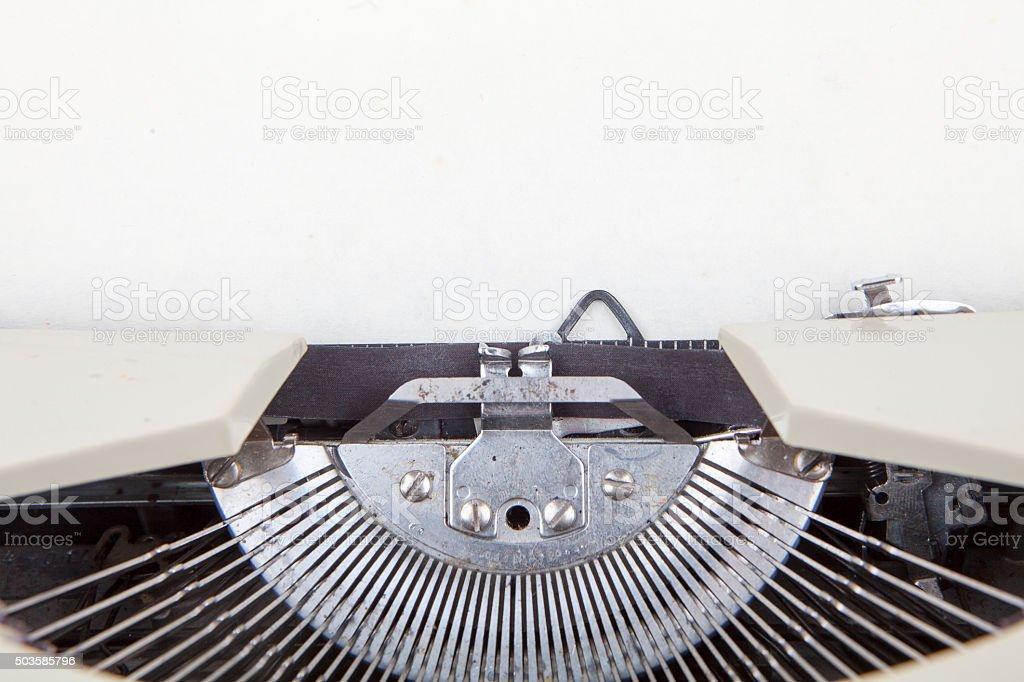 Detail of Old Typewriter stock photo
