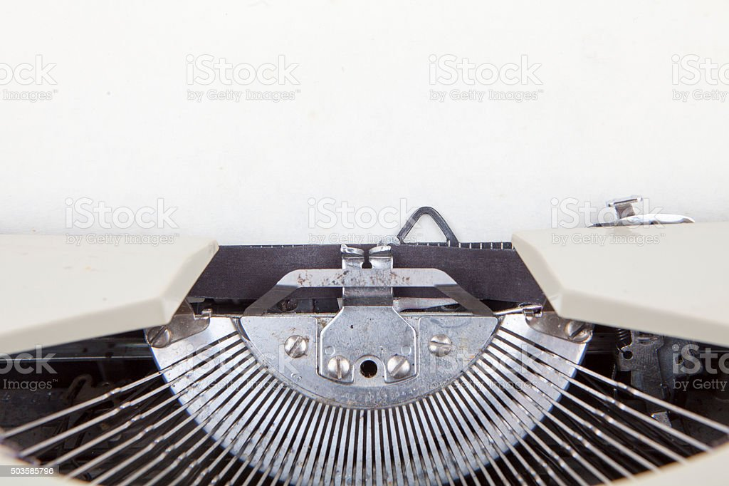 Detail of Old Typewriter stock photo