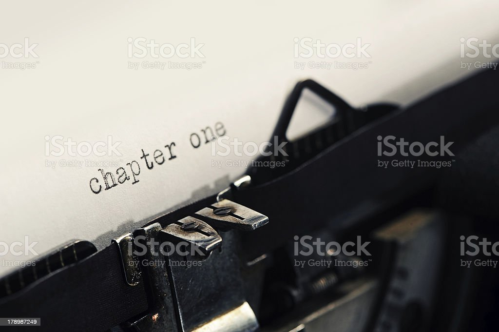 detail of Old Vintage Typewriter royalty-free stock photo