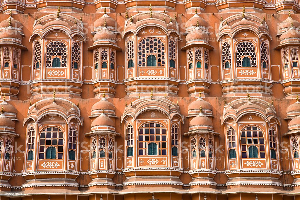 Detail of Palace of Winds, Jaipur stock photo