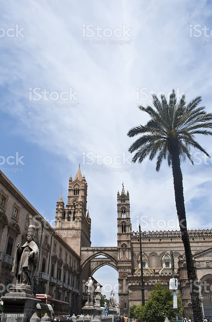 Detail of Palermo cathedral royalty-free stock photo